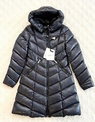 Moncler Marus Hooded Down Coat Navy Size Tg3 Nwt