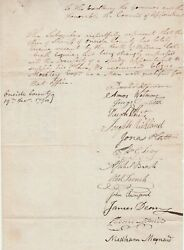 Rare Document Signed By Many - 1798 Sheriff Oneida County Utica Ny To Governor