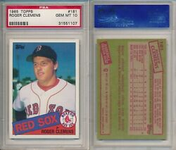 Roger Clemens Red Sox 1985 Topps 181 Rookie Card Rc Psa 10 Gem Mint X107