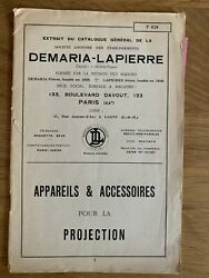 Catalogue quot; Cameras amp; Accessories For La Projection. Demaria Lapierre quot; 1925
