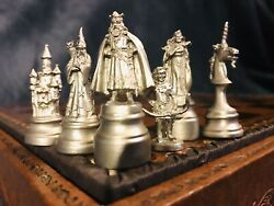 Very Rare Estate Perth Pewter Ray Lamb Arthurian Chess Set C-1981 Signed