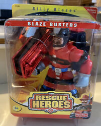 2000 Fisher Price Rescue Heroes Blaze Busters Billy Blazes Fireman New Unopened