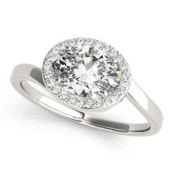 1.75 Ct Oval Moissanite Wedding Ring For Women Solid 14k White Gold Size M N P O