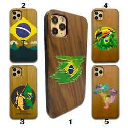 Country Brazil Wooden Case For Iphone 12 Pro Max 11 Xr Se X 8 7 Plus Wood Sn151
