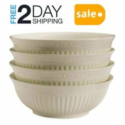 Mikasa Italian Countryside Soup Cereal Bowls Stoneware Construction White Color