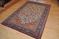 On Sale Antique Hanmdade 5x7 Ft. Garden Design Pictorial Floral Rug Tree Of Life