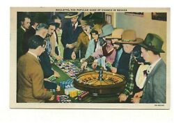 1936 PC: People Playing Roulette the Popular Game of Chance in Nevada