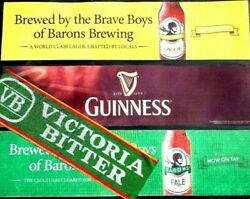 Beer Mat Runners Lot Of 4x Victoria Bitter,guinness, Barons Made In Australia