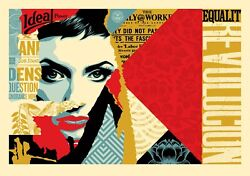 Shepard Fairey Ideal Power Large Format Ed.75 Print Obey Giant Equality Justice