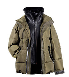 Mackage Riley 40andrdquo Med Menandrsquos Down Jacket - Removable Shearling Bib Rrp Andpound1195.00