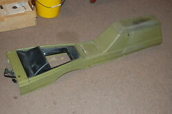 71 72 73 Mustang Cougar Console With Clock Green Unrestored
