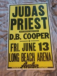 Judas Priest Rob Halford 1980 Meatal Rock Boxing Style Cardboard Concert Poster