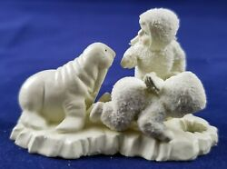 Dept 56 Snowbabies Miniature Hand Painted Pewter. I Can't Find Him 76695
