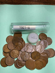 1921-s Lincoln Wheat Cent Roll Historical 100 Year Old Penny Tough Date To Find