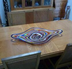 Large 37 Table Centerpiece, Hand Blown Art Glass Decor, By Dirwood, N3590