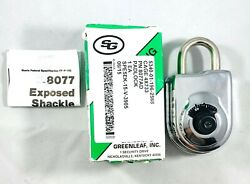 New Sargent And Greenleaf 8077ad With Key Changing Combination Padlock