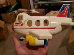 Playmates Vintage Lil Playmate Airlines - Plastic Airplane Toy 9.5 Inches Tall