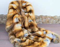 Blanket Fur Real Natural Fur Luxury Carpet And Blanket Fox 55and039 X 79 In