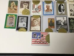 Ty Cobb Lot - 9 Cards Issued In Limited Edition From Ty Cobb Museum 2000-2008
