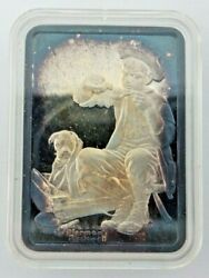 Norman Rockwell Animal Doctor 1 Troy Ounce 999 Pure Silver Art Bar H339