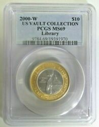 Us 2000 Library Of Congress 10 W/pcgs Ms69 H17