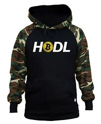 Menand039s Hold Tv120 Camo/black Raglan Hoodie Trading Stock Cryptocurrency Miner Usd