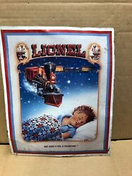 1992 Lionel Trains Not Just A Toy, A Tradition Tin Sign