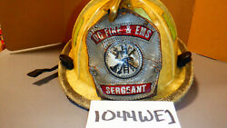 Cairns Fire Helmet Sergeant 1044 White With Eagle Fire Fighter Gear