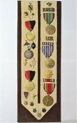 23 Award And Decoration Medals To Johnathan Harris World War Two Medical Officer