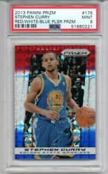 Nba Card 2013-14 Stephen Curry Panini Prizm Red/white/blue Plsr Przm Psa9
