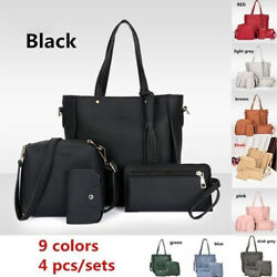 Women Tote Handbags Large Leather Ladies Crossbody Shoulder Bag Set Purse Card $14.01