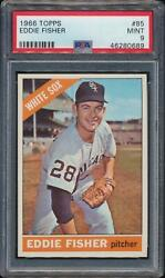 1966 Topps Eddie Fisher 85 Chicago White Sox Psa 9 Mint Low Pop