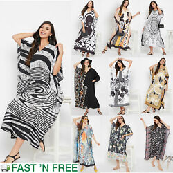Gypsie Blu Women Kaftan Beach Dress Evening Gown Casual Summer Maxi Sundress