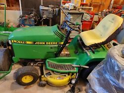 John Deere Lx176 Tractor With 4 John Deere Attachments Including New Battery