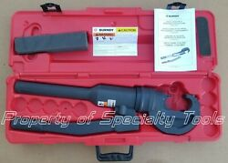 Burndy Y750hsxt Hydraulic Manual Crimper 12 T Crimping Rubber Covered Crimp Tool