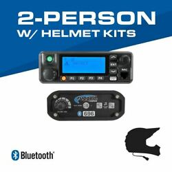 Rugged Radios 2-person - 696 Complete Communication System - With Helmet Kits