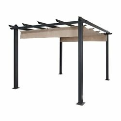9and039 X 9and039 Aluminum Pergola Canopy Outdoor Patio Barbecue Grill Gazebo Garden Tent