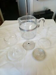 Vintage Pyrex Flameware Glass 9 Cup Coffee Pot Percolator 7759-b Complete