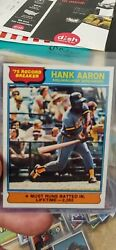 1976 Topps Hank Aaron And03975 Record Breaker 1 Milwaukee Brewers Rare Quality...