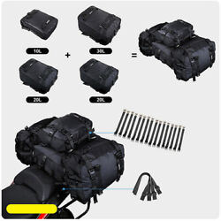 20l Motorcycle Tail Pack Backpack Pvc Rear Gear Bag For Rafting Fishing Camping