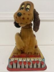 Vintage Marx 1961 Buttons The Puppy With A Brain Tin Base Moving Parts Litho Toy
