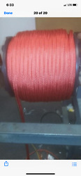 3/ 4 Arborists Double Braid Rope 600 Feet Red