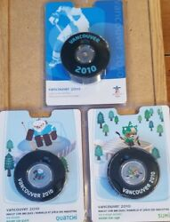 Vancouver 2010 Olympics 50 Cent Coin In Puck Royal Canadian Mint - Hockey And Logo