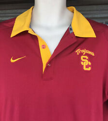 Usc Trojans Nike Baseball Team Issued Polo Shirt Men's Large Fritts 18 Pac 12