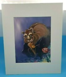 Beauty And Beast - Disney Gallery Print Litho - Signed By Artist Eric Robison 1992