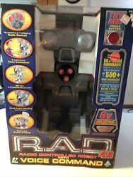 Vintage 2001 Toymax R.a.d. 4.0 Radio Controlled Robot With Voice Command Sealed
