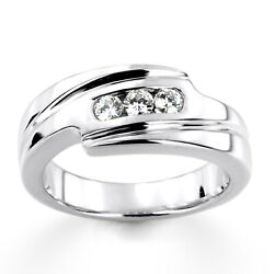 Solid 950 Platinum Ring Certified 0.30 Ct Real Diamond Weeding Mens Band Size 9