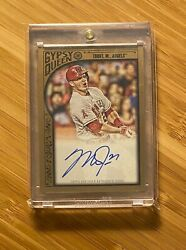 2015 Topps Gypsy Queen Mike Trout 15/25 On-card Auto Autograph