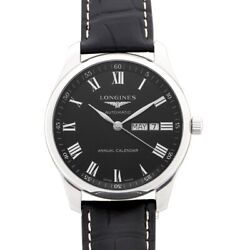 Longines The Longines Master Collection L29204517 Black Dial Menand039s Watch