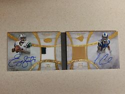 Geno Smith And Tavon Austin 2012 Five Star Futures On Card Autos And Patch 2/15